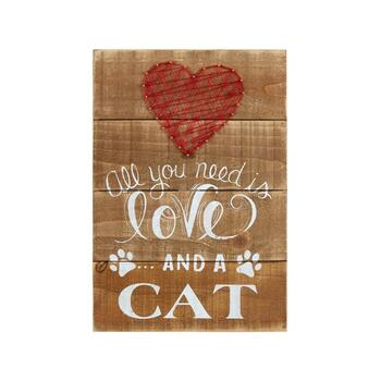 "11""x14"" ""All You Need is Love… and a Cat"" Heart Wall Decor"