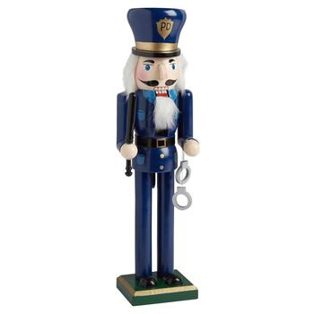 "15"" Police with Handcuffs Nutcracker"