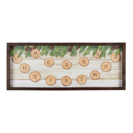 "20""x50"" ""Merry Christmas"" Wood Frame Wall Decor view 1"
