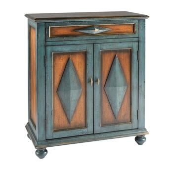 Teal/Brown Diamond Cabinet