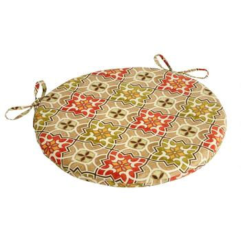 Desert Tile Indoor/Outdoor Round Bistro Seat Pad