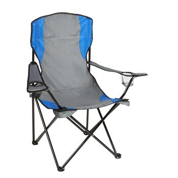 Gray/Blue Hammock Chair with Arch