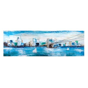 Painted City View Canvas Wall Art