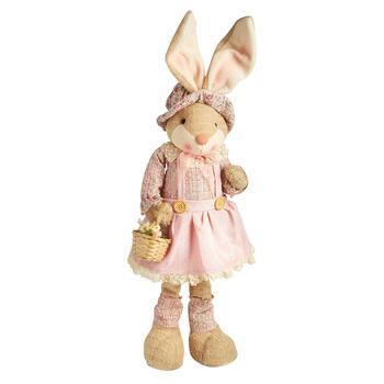 "28"" Standing Bunny with Flower Basket"