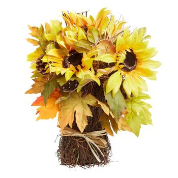 "16"" Yellow Artificial Sunflower Stack"