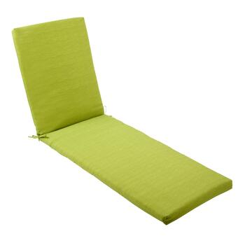 Solid Green Indoor/Outdoor Chaise Chair Pad