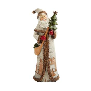 "11.5"" Woodland Santa Figurine with Tree"