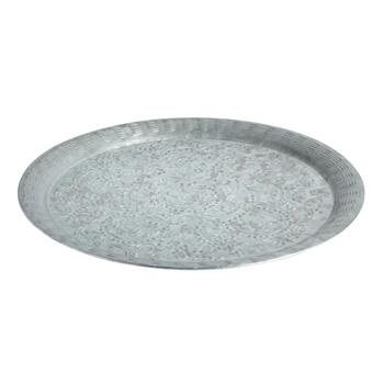 The Grainhouse™ Galvanized Metal Round Platter