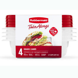 Rubbermaid® TakeAlongs® 4-Count Square Food Containers with Lids view 1