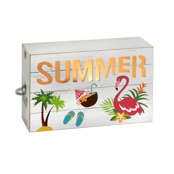 "10"" ""Summer"" Wood Shadowbox Light"