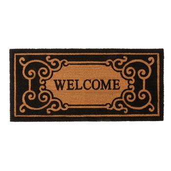 "22""x47"" ""Welcome"" Oversized Coir Door Mat"