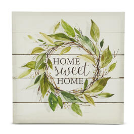 Home Sweet Home Wreath Canvas Wall Art view 1