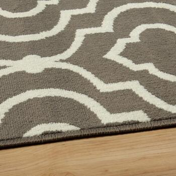 Gray Ogee Printed Rug Set, 3-Piece view 2