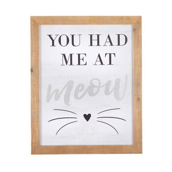 "16""x20"" ""You Had Me at Meow"" Wood Framed Wall Decor view 1"