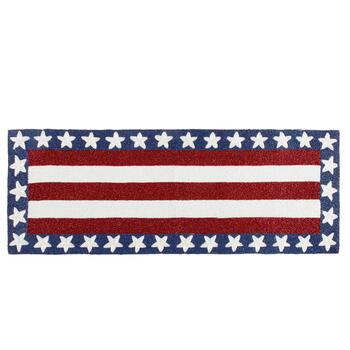 Stars and Stripes Beaded Table Runner