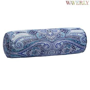 Waverly® Blue Paisley Indoor/Outdoor Lumbar Roll Pillow
