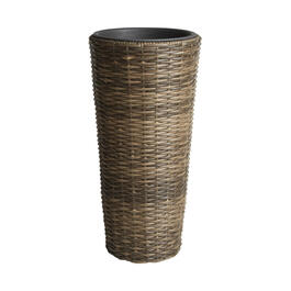 "23"" Round Water Hyacinth Column Planter view 1"