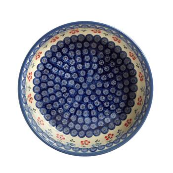 "11.5"" Polish Pottery Floral Fruit Bowl view 2"