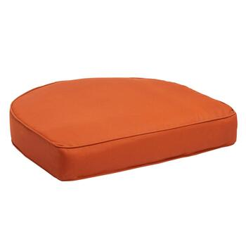 Solid Tangerine Indoor/Outdoor Gusset Seat Pad