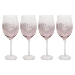 Metallic Mercury Glass Wine Glasses, Set of 4 view 1