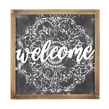"The Grainhouse™ 20"" ""Welcome"" Medallion Framed Wall Decor view 1"
