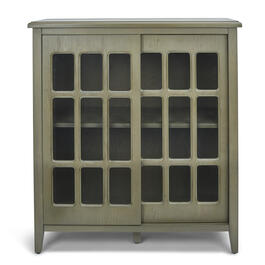 Gray Glass Lattice Cabinet view 1