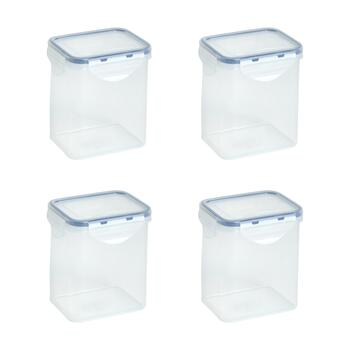 27-Oz. Locking Lid Tall Plastic Storage Containers, Set of 4