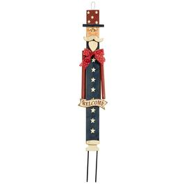 Wooden Uncle Sam Stake with Red Bow