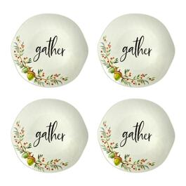 """Gather"" Heavyweight Melamine Salad Plates, Set of 4"