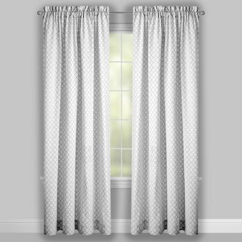 Traditions by Waverly® Quatrefoil Framework Window Curtains, Set of 2 view 2