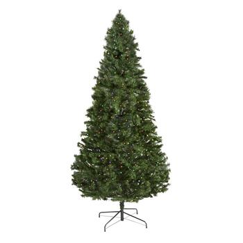 7.5' Pre-Lit Multicolored LED Artificial Christmas Tree