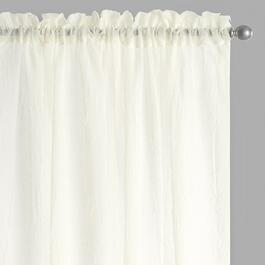 Crushed Window Curtains, Set of 2