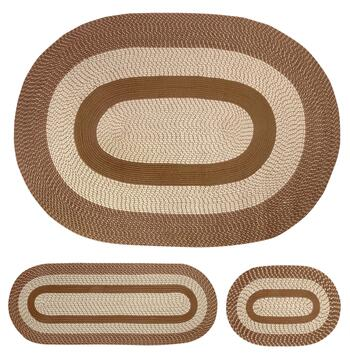 Reversible Braided Rugs Set, 3-Piece