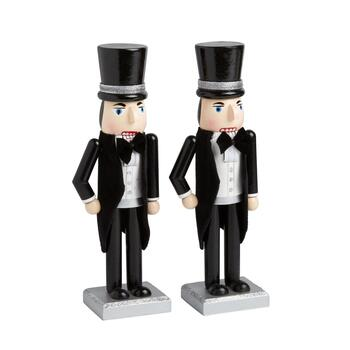 "10"" Groom and Groom Nutcrackers, Set of 2"