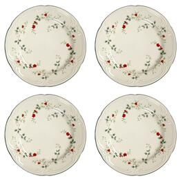 Famous Maker Winterberry Round Salad Plates, Set of 4