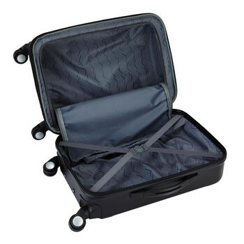 Black Hard Shell Luggage Set, 3-Piece view 4