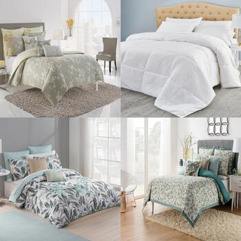 Famous Maker Duvet Covers and Elle Down Comforters