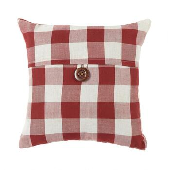 Buffalo Check Buttoned Square Throw Pillow