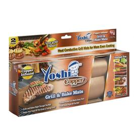 As Seen on TV Yoshi Copper Grill and Bake Mats, 2-Pack