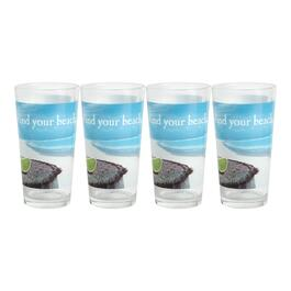 """Find Your Beach"" Corona® Pint Glasses, Set of 4"