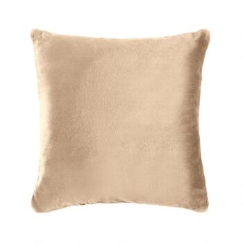 Warm Solid Sherpa Square Throw Pillow