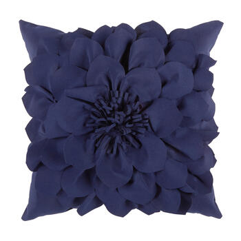 Blue Flower 3D Indoor/Outdoor Square Throw Pillow view 1