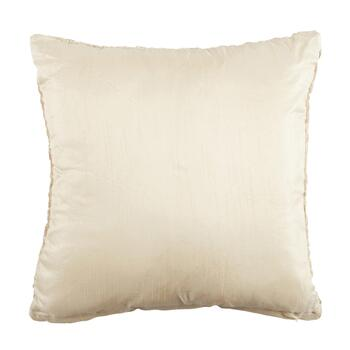 Embellished Gold Metallic Marble Square Throw Pillow view 2