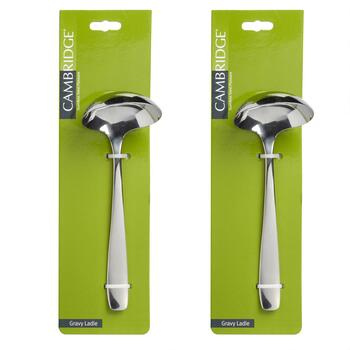 Cambridge® Stainless Steel Gravy Ladles, Set of 2