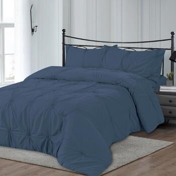 The Grainhouse™ Solid Pintuck Comforter Set