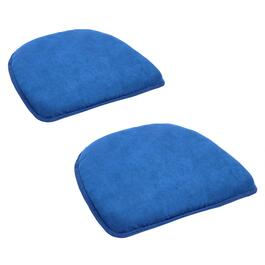 Solid Non-Slip Textured Chair Pads, Set of 2