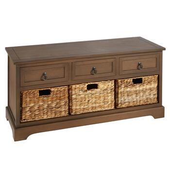 Hannah Brown 3-Drawer/3-Basket Storage Bench