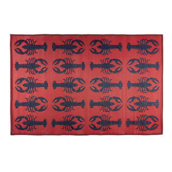 Patio Mat Lobsters 4x6 A view 2