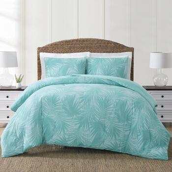 . Coastal Living Seascapes  Palm Leaves Comforter Set