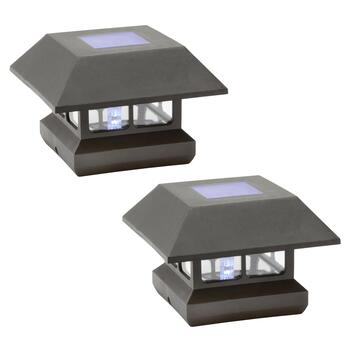 Solar Post Cap Lights, Set of 2